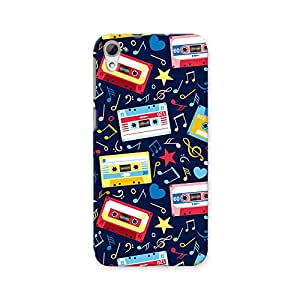 ArtzFolio Music Cassettes : HTC Desire 826 Matte Polycarbonate ORIGINAL BRANDED Mobile Cell Phone Protective BACK CASE COVER Protector : BEST DESIGNER Hard Shockproof Scratch-Proof Accessories