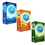 Exure condoms 3 packs, 1 of each Ribb...