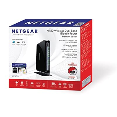 Netgear WNDR4300 N750 Wireless Dual Band Gigabit Router (Black)