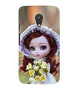 Doll with Flower in hand 3D Hard Polycarbonate Designer Back Case Cover for Motorola Moto G2 :: Motorola Moto G 2nd Gen :: Motorola Moto G XT1068 :: Motorola Moto G 2nd Gen :: Motorola Moto G Dual SIM 2nd gen :: Motorola Moto G Dual SIM 2014