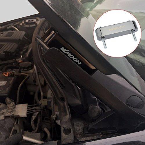 KKmoon Motorhaube Abstandhalter 2 x KKMOON Billet Aluminium Riser Spacer Swap Air Flow Vent Lenkererhöhung (Gun-schwarz)
