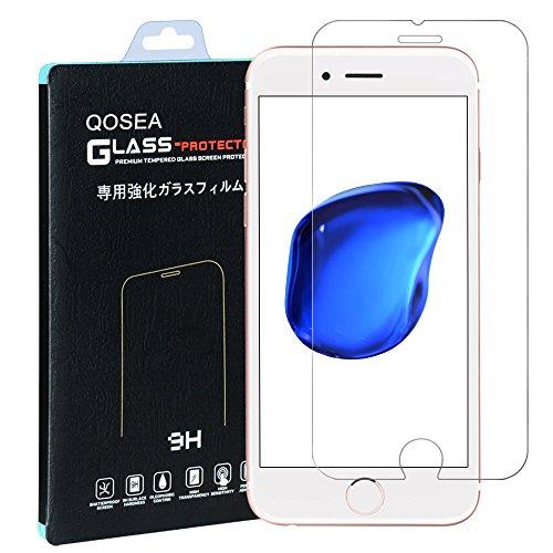 iPhone 7 強化ガラスフィルム【Qosea】iPhone7 4.7液晶...