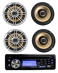 See Set of 4 DB651 Polk Audio Full-Range 2-Way Wheel-Inspired Style Car Marine Speakers w MP3-Compatible In-Dash AM/FM Receiver Details