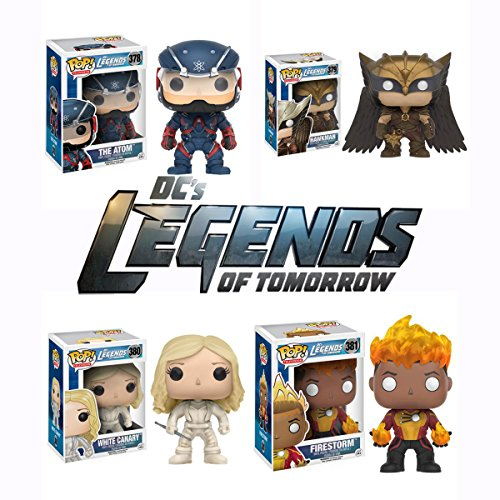 Pop! TV: DC's Legends of Tomorrow - The Atom, Hawkman, White Canary, and Firestorm Vinyl Figures! Set of 4