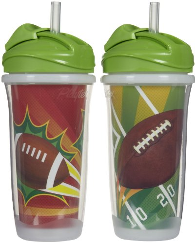 Playtex Playtime Insulator Straw Cup - 9 Oz - Girl - 2 Pk, Size 9 Oz