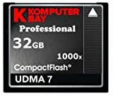 Komputerbay 32GB COMPACT FLASH CARD Professionelle CF 1000X 150MB/s Extreme Speed UDMA 7 RAW 32 GB
