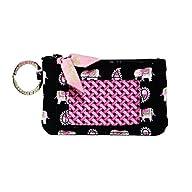 Vera Bradley Zip ID Card Case (pink e…