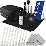 Altura Photo Complete Camera Cleaning Kit for DSLR Lenses - Sensors - and LCD Screens - Includes: 9 Pcs Wet & Dry Sensor Cleaning Swabs + Purosol All Natural Lens Cleaner Spray + Shock Proof Carry Case + Lens Cleaning Pen + Lens Brush + Air Blower Cleaner + 50 Sheets Lens Tissue Paper + 4 Pcs MagicFiber Microfiber Cleaning Cloth