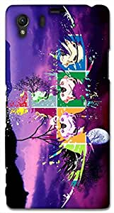 Timpax protective Armor Hard Bumper Back Case Cover. Multicolor printed on 3 Dimensional case with latest & finest graphic design art. Compatible with Sony L39H - Sony 39 Design No : TDZ-26873