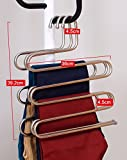 Ecolife Sturdy S-type Multi-Purpose Stainless Steel Magic Pants Hangers Closet Hangers Space Saver Storage Rack for Hanging Jeans Scarf Tie, Family Economical Storage ! (1 Pce)