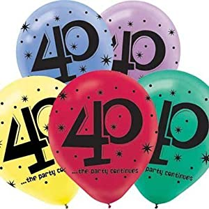 """40"" Printed 12in Balloon Assortment 15ct from Amscan, Inc."