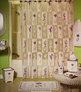 Amazon Reflections Floral Semi Sheer Fabric Shower