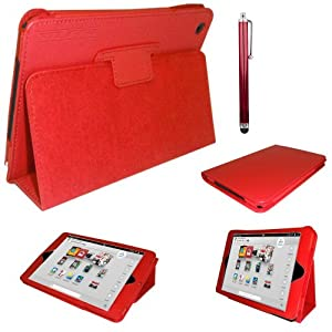 Red Magnetic Case for Nook HD+ 9 inch Tablet Cover with Screen Protector & Stylus by iChoose®