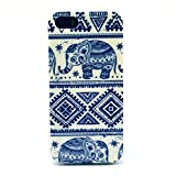 Acefast INC Colorful Pattern TPU Soft Case Rubber Silicone Skin Cover for Apple Iphone 5 5s (Elephant)