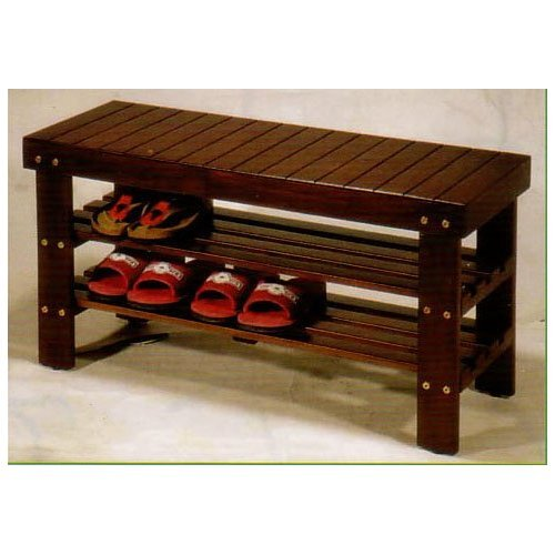 Shoe Rack Organizer Solid Wood Storage Bench Sit and Tie Your Shoes