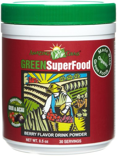 Amazing Grass Berry Flavor Drink Powder, 30 Servings