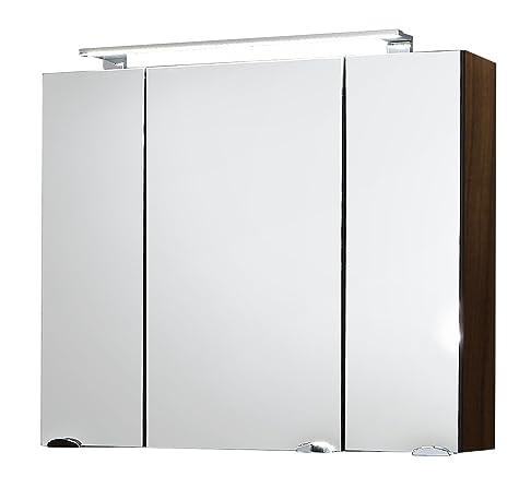 Posseik - Armadietto da bagno con specchio, Grigio