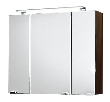 posseik 5681 78 spiegelschrank rima 80 cm breit walnu us143. Black Bedroom Furniture Sets. Home Design Ideas