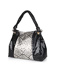 Neeshi Women's Hand Bag Silver Black (N K)