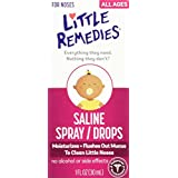 Little Remedies Saline Spray/Drops for Dry for Stuffy Noses, 1-Ounce (30 ml) (Pack of 6)