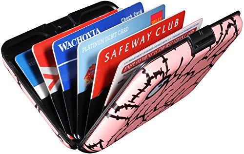 Shell D RFID Aluminum Wallet Credit Card Holder Prevent