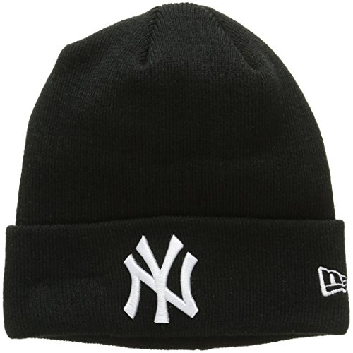 New Era Essential Ny Yankees Knit, Cuffia Uomo, Nero, Taglia Unica