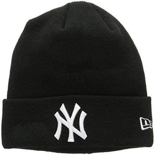 New Era Essential Ny Yankees Knit, Cuffia Uomo, Nero, Taglia Unica