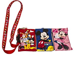 Disney Set of 3 Mickey and Friends Lanyards with Detachable Coin Purse