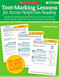 Text-Marking Lessons for Active Nonfiction Reading (Grades 2-3): Reproducible Nonfiction Passages With Lessons That Guide Students to Read ... Text Structures, and Activate Comprehension (0545288177) by Stamper, Judith Bauer