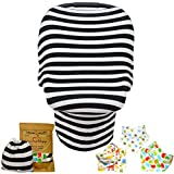 Premium 4 In 1 Baby Car Seat Canopy | Nursing Cover & Bandana Drool Bib Set With Drawstring Carry Bag Unique Shower...