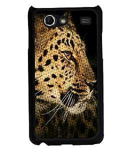 PRINTVISA The Tiger Premium Metallic Insert Back Case Cover for Samsung Galaxy S Advance - I9070 - D6032