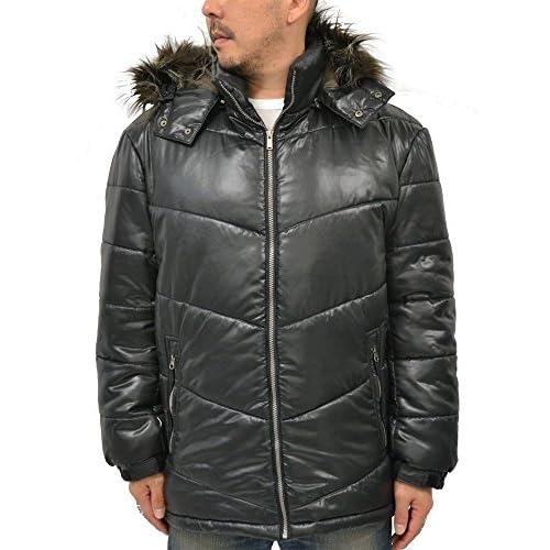 (エアウォーク) AIRWALK 大きいサイズ ジャケット メンズ 中綿ジャケット フード ファー 2color 3L ブラック