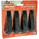 BLACK RUBBER DOOR WEDGE PACK OF 4