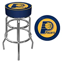 NBA Indiana Pacers Padded Swivel Bar Stool by Trademark Games