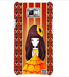 PrintDhaba Cute Girl D-2683 Back Case Cover for SAMSUNG GALAXY S2 (Multi-Coloured)