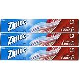 Ziploc Storage Bags 2 Gallon, 12 Count (Pack Of 3)