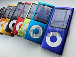"TechNiched 8GB Super Slim 5th Gen MP3 MP4 Player with 2.2"" LCD, Camera, FM Radio, Shake, Gravity Sensor, Touch Wheel & 30 Pin iPod Connector Interface - 1YR WARRANTY"