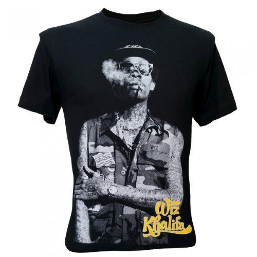 Immortal Men'S Wiz Khalifa Smoke Rapper Hip Hop T-Shirt Black Medium