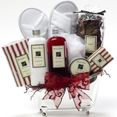 White Mulberry Spa Bath and Body Gift Set - A Great Spa Gift Basket For Her!