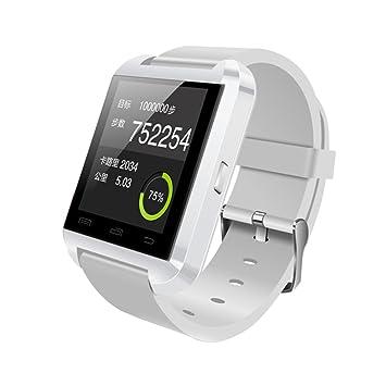 Smart Watch U8 Smart Orologio da Polso Bluetooth Touchscreen per Smartphone Android 4,2 Bianco