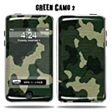 Protective Vinyl Skin Decal Sticker for Apple iPod Touch 2G 3G 2nd 3rd Generation 8GB 16GB 32GB - Green Camo2