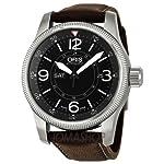 Oris Big Crown Timer Black Dial Brown Leather Mens Watch 735-7660-4064LS from Oris