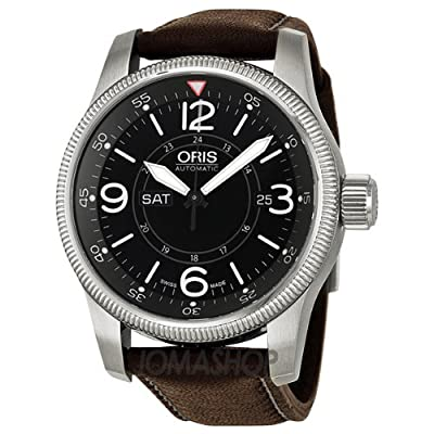 Oris Big Crown Timer Black Dial Brown Leather Mens Watch 735-7660-4064LS from Oris