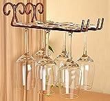 見せる収納 おしゃれな【 ワイングラスハンガー 2レーンタイプ 洗浄ブラシ付き 】アンティーク風 ワイングラスホルダー 収納 ラック クラシック