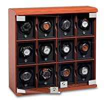 12-Module Leather Watch Winder by Underwood
