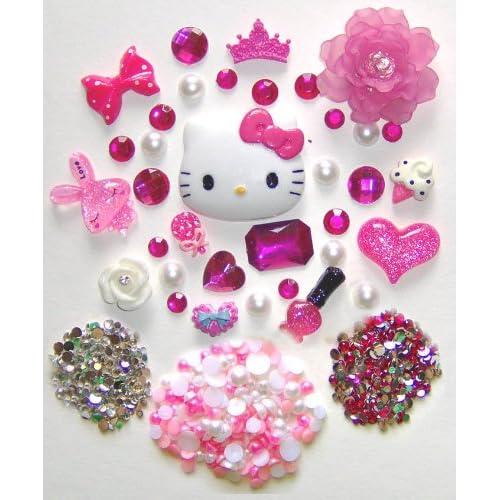 LOVEKITTY    DIY Hello Kitty Bling Bling Cell Phone Case Resin Flatback Deco Kit / Set    ships from USA by lovekitty