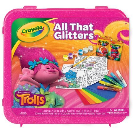 Crayola Dreamworks Trolls All That Glitters Coloring Kit