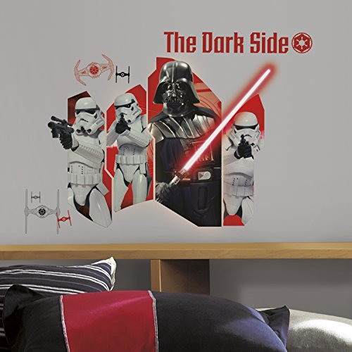 """RoomMates RMK3025TB Star Wars Classic Darth Vader & Stormtroopers P&S Wall Graphic, 32"""" Wide 23.14"""" High"""