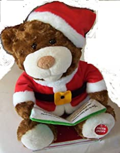Twas The Night Before Christmas Story Bear Talking, Musical Animated Plush