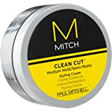 Paul Mitchell Men by Paul Mitchell Mitch Clean Cut Medium Hold/Semi-Matte Styling Cream for Men 3 Ounce